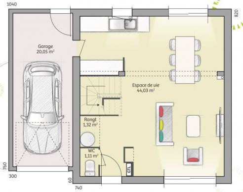 Maison+Terrain à vendre .(91 m²)(BRECEY) avec (MAISONS FRANCE CONFORT)