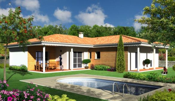 Maison+Terrain à vendre .(SAINT MEDARD D'EYRANS) avec (MAISONS BATI SUD)