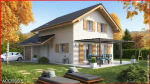 Maison à vendre .(86 m²)(MARTHOD) avec (MCA ALBERTVILLE)