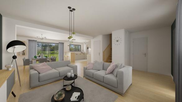 Maison+Terrain à vendre .(128 m²)(COURCELLES CHAUSSY) avec (Maison Familiale Metz)