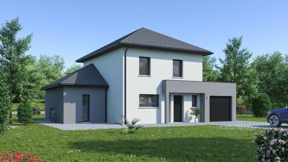 Maison+Terrain à vendre .(128 m²)(COURCELLES SUR NIED) avec (Maison Familiale Metz)