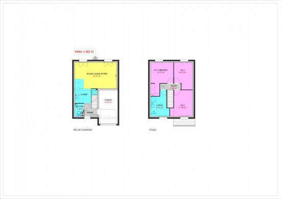 Maison à vendre .(82 m²)(LA VILLE DU BOIS) avec (MAISONS PIERRE STE GENEVIEVE DES BOIS)