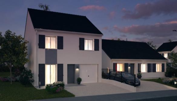 Maison à vendre .(87 m²)(LA NORVILLE) avec (MAISONS PIERRE STE GENEVIEVE DES BOIS)