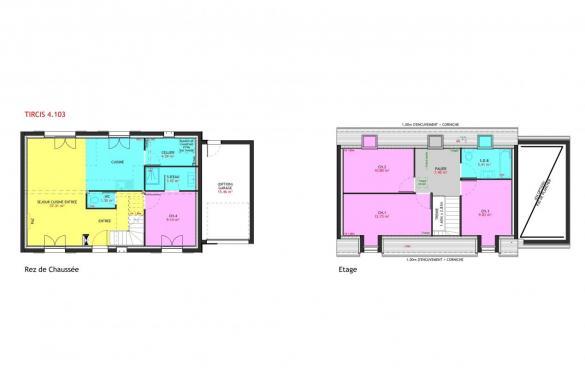 Maison à vendre .(103 m²)(TOURNAN EN BRIE) avec (MAISONS PIERRE MONTEVRAIN)