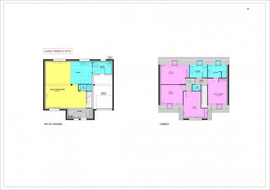 Maison à vendre .(124 m²)(SAINTE GENEVIEVE DES BOIS) avec (MAISONS PIERRE VILLE DU BOIS)