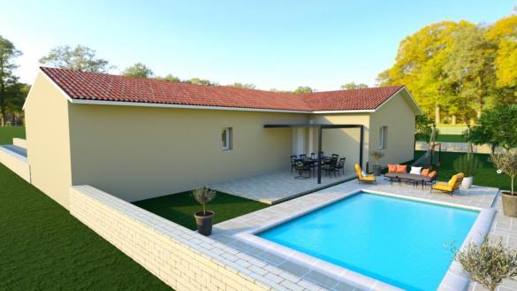 Maison à vendre .(110 m²)(SAINT DIDIER DE FORMANS) avec (TRADYBEL RHONE)
