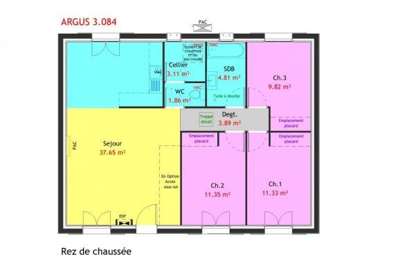 Maison à vendre .(84 m²)(ROYE) avec (MAISONS PIERRE AMIENS)