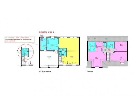 Maison à vendre .(128 m²)(DANGERS) avec (MAISONS PIERRE CHARTRES)