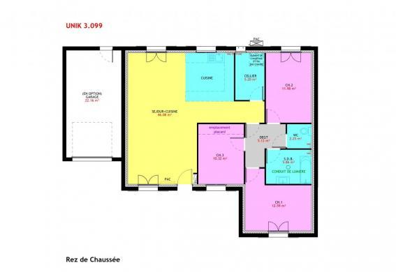 Maison à vendre .(99 m²)(MEZIERES EN DROUAIS) avec (MAISONS PIERRE CHARTRES)