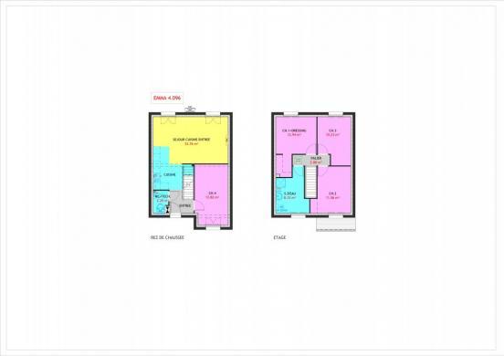Maison à vendre .(96 m²)(FONTAINEBLEAU) avec (MAISONS PIERRE CHARTRES)