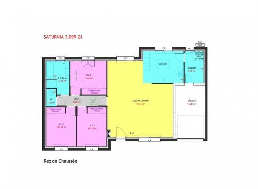 Maison à vendre .(99 m²)(LA ROCHE SUR YON) avec (MAISONS PIERRE LA ROCHE SUR YON)