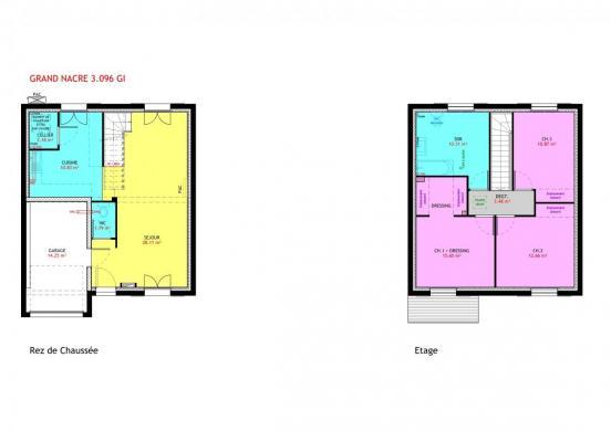 Maison à vendre .(96 m²)(SAINT PHILBERT DE GRAND LIEU) avec (MAISONS PIERRE NANTES SUD)