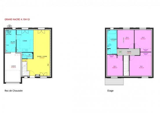 Maison à vendre .(104 m²)(LE LANDREAU) avec (MAISONS PIERRE NANTES SUD)