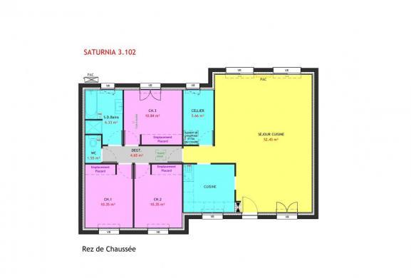 Maison à vendre .(102 m²)(TOUVOIS) avec (MAISONS PIERRE NANTES SUD)