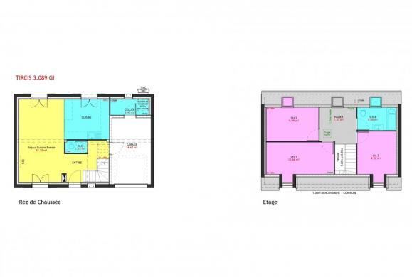 Maison à vendre .(89 m²)(MANTES LA JOLIE) avec (MAISONS PIERRE BAGNEUX)