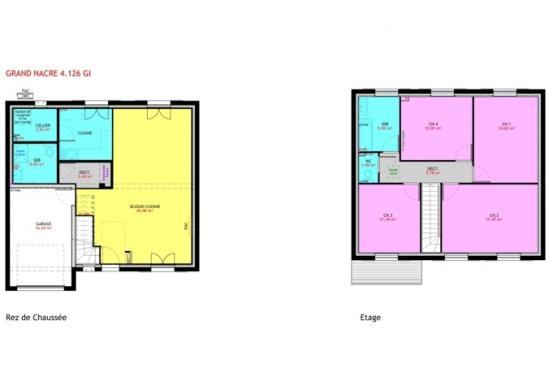 Maison à vendre .(126 m²)(NOTRE DAME D'OE) avec (MAISONS PIERRE TOURS)