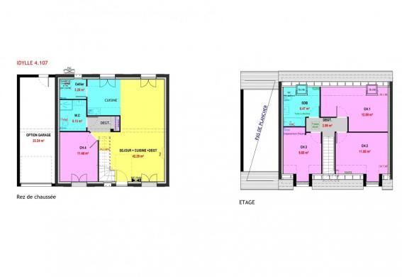Maison à vendre .(107 m²)(SORIGNY) avec (MAISONS PIERRE TOURS)