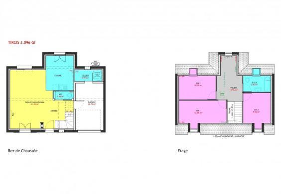 Maison à vendre .(96 m²)(MONTS) avec (MAISONS PIERRE TOURS)