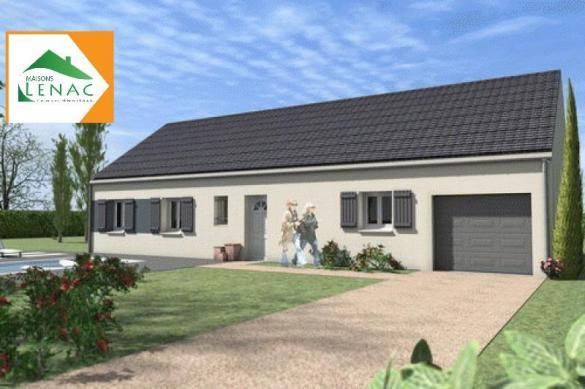Maison à vendre .(105 m²)(CERISIERS) avec (MAISONS LENAC)