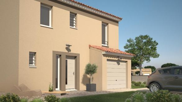 Maison+Terrain à vendre .(82 m²)(PEZILLA LA RIVIERE) avec (LES MAISONS DE MANON)