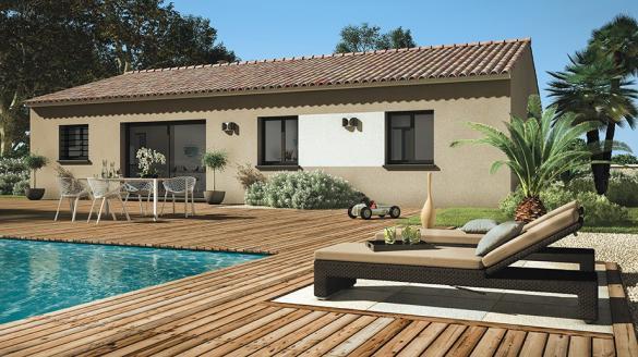 Maison+Terrain à vendre .(90 m²)(SAINT JEAN LASSEILLE) avec (LES MAISONS DE MANON)