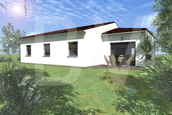 Maison+Terrain à vendre .(SAINT PAUL LE JEUNE) avec (BATIVILLA SARL A&K)