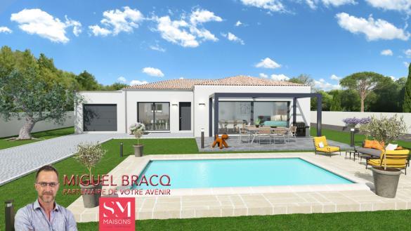 Maison+Terrain à vendre .(83 m²)(MONTBLANC) avec (SM MAISON)