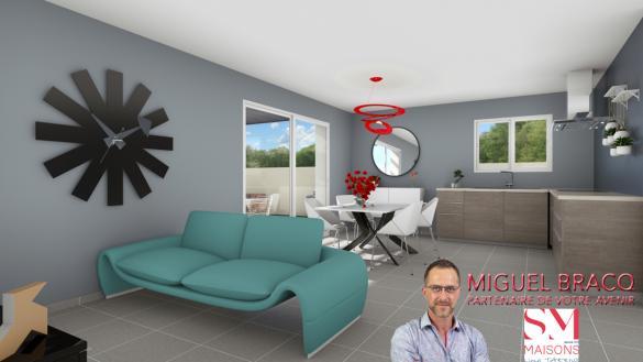 Maison+Terrain à vendre .(90 m²)(BASSAN) avec (SM MAISON)