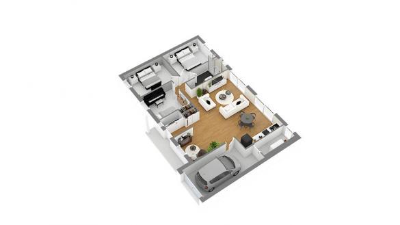 Maison+Terrain à vendre .(88 m²)(HERGNIES) avec (HABITAT CONCEPT VALENCIENNES)