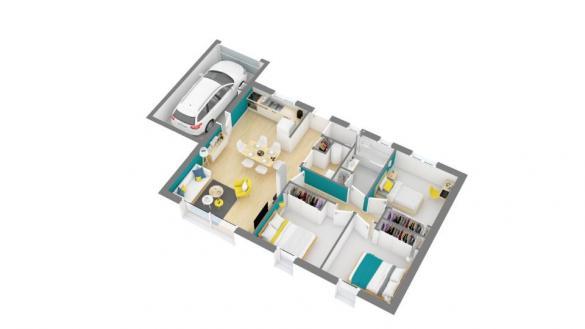 Maison+Terrain à vendre .(73 m²)(MONTGISCARD) avec (MAISONS FRANCE CONFORT)