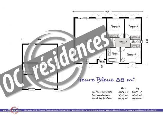 Maison+Terrain à vendre .(88 m²)(PALAJA) avec (OC RESIDENCES - CARCASSONNE)