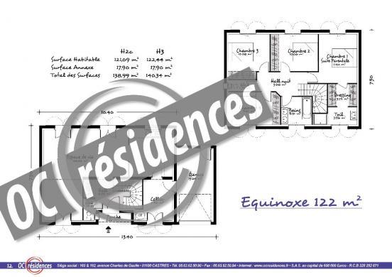 Maison+Terrain à vendre .(121 m²)(PALAJA) avec (OC RESIDENCES - CARCASSONNE)