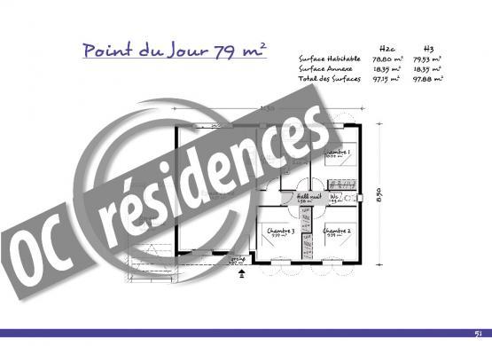 Maison+Terrain à vendre .(79 m²)(VILLEMOUSTAUSSOU) avec (OC RESIDENCES - CARCASSONNE)