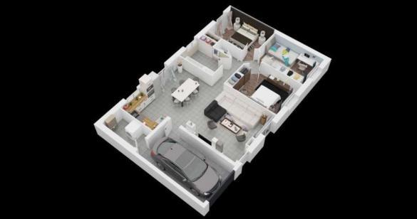 Maison à vendre .(89 m²)(CASTELGINEST) avec (MAISONS PIERRE)