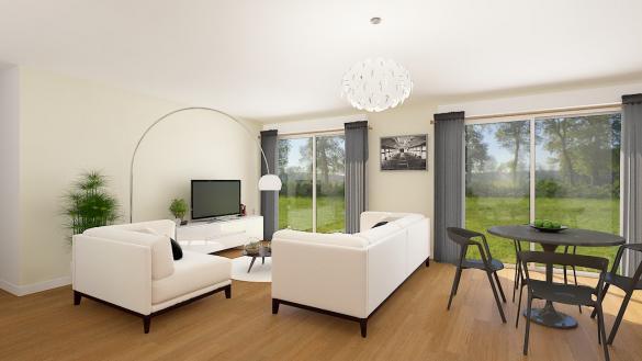Maison+Terrain à vendre .(88 m²)(ESTREES DENIECOURT) avec (RESIDENCES PICARDES)