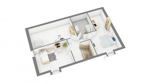 Maison+Terrain à vendre .(110 m²)(ESCHES) avec (RESIDENCES PICARDES)