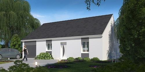 Maison+Terrain à vendre .(90 m²)(EU) avec (RESIDENCES PICARDES EU)