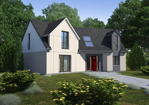 Maison+Terrain à vendre .(150 m²)(FRESNOY FOLNY) avec (RESIDENCES PICARDES EU)