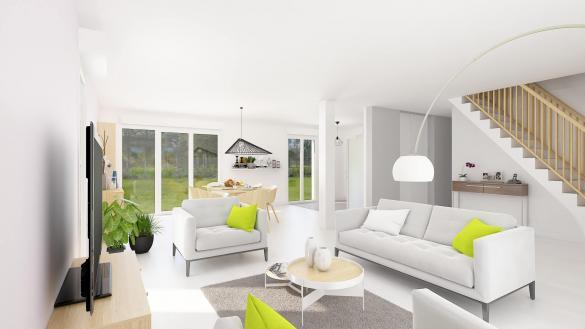 Maison+Terrain à vendre .(110 m²)(AILLY SUR SOMME) avec (HABITAT CONCEPT)