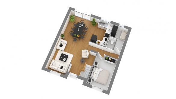 Maison+Terrain à vendre .(103 m²)(RIVERY) avec (HABITAT CONCEPT)