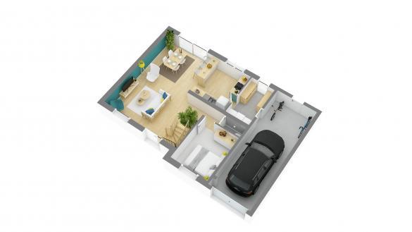 Maison+Terrain à vendre .(93 m²)(FLERS SUR NOYE) avec (HABITAT CONCEPT)