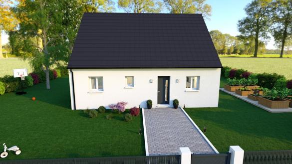 Maison+Terrain à vendre .(75 m²)(SAINT LEGER LES DOMART) avec (HABITAT CONCEPT)