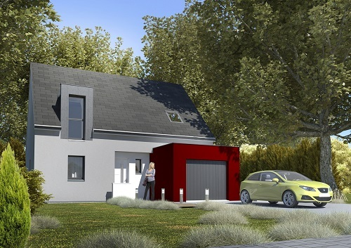 Maison+Terrain à vendre .(100 m²)(SALOUEL) avec (HABITAT CONCEPT)