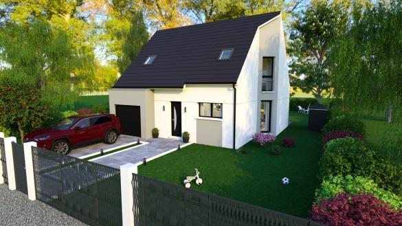 Maison+Terrain à vendre .(89 m²)(OCTEVILLE SUR MER) avec (HABITAT CONCEPT)