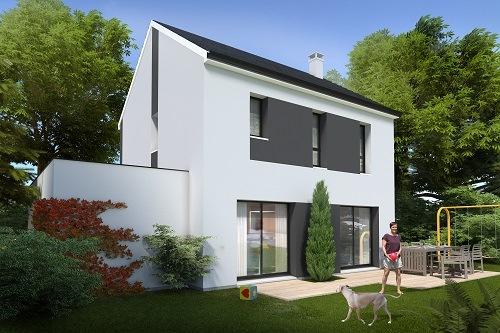 Maison+Terrain à vendre .(87 m²)(BRETTEVILLE L'ORGUEILLEUSE) avec (HABITAT CONCEPT)