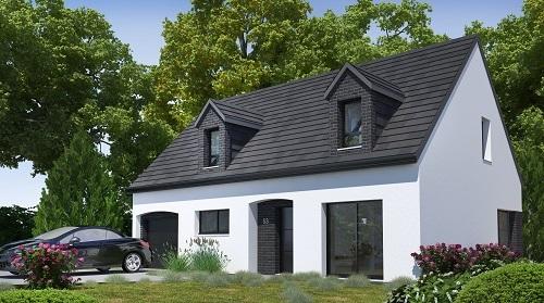 Maison+Terrain à vendre .(127 m²)(FIERVILLE BRAY) avec (HABITAT CONCEPT)