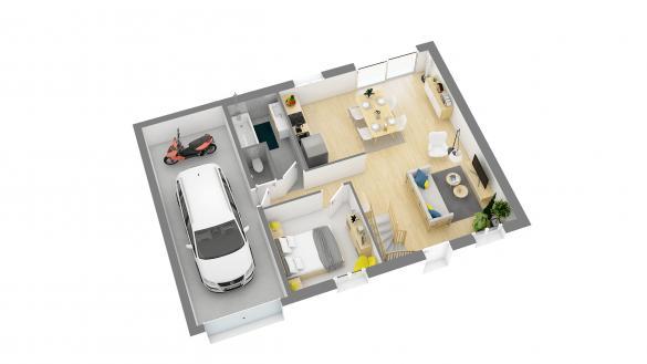 Maison+Terrain à vendre .(79 m²)(ESQUAY NOTRE DAME) avec (HABITAT CONCEPT)