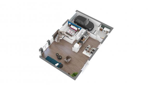 Maison+Terrain à vendre .(102 m²)(PONT L'EVEQUE) avec (HABITAT CONCEPT)