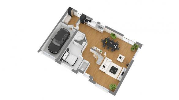 Maison+Terrain à vendre .(127 m²)(SAINT LEGER DUBOSQ) avec (HABITAT CONCEPT)