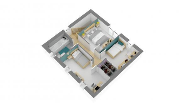 Maison+Terrain à vendre .(87 m²)(COURRIERES) avec (HABITAT CONCEPT)